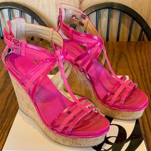 Flamingo pink wedges by Nine West ❤️